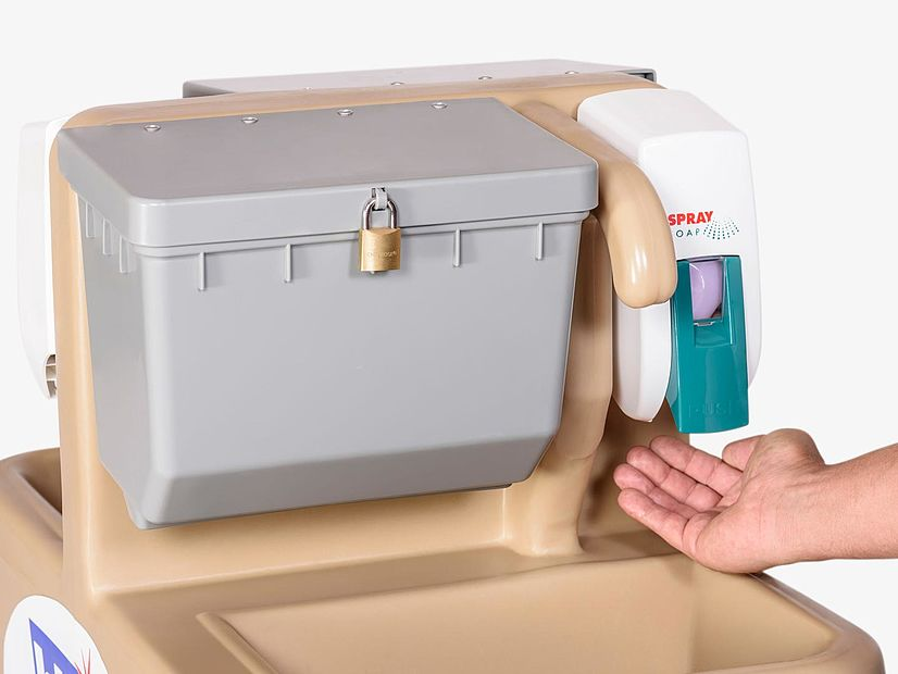 Forearm Washing Tag Along - Soap Dispenser
