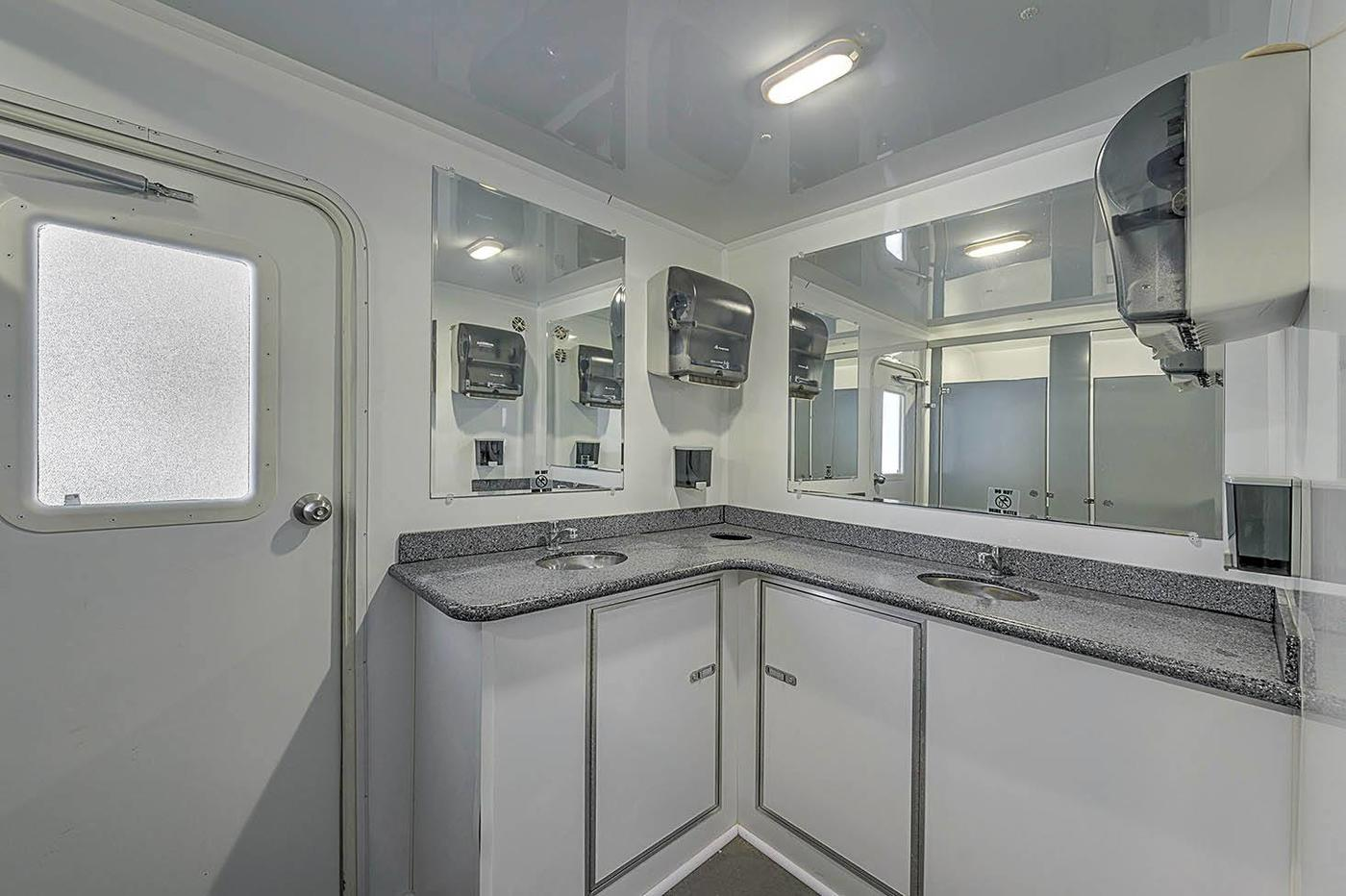 Portable Restroom Trailers Easy Rental Blu Site Solutions