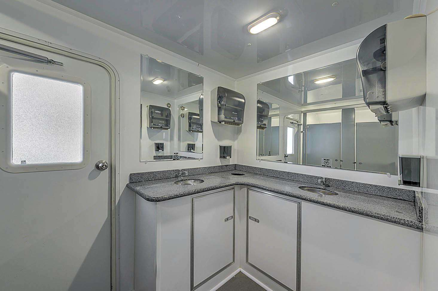 Commercial Restroom Trailer - Interior