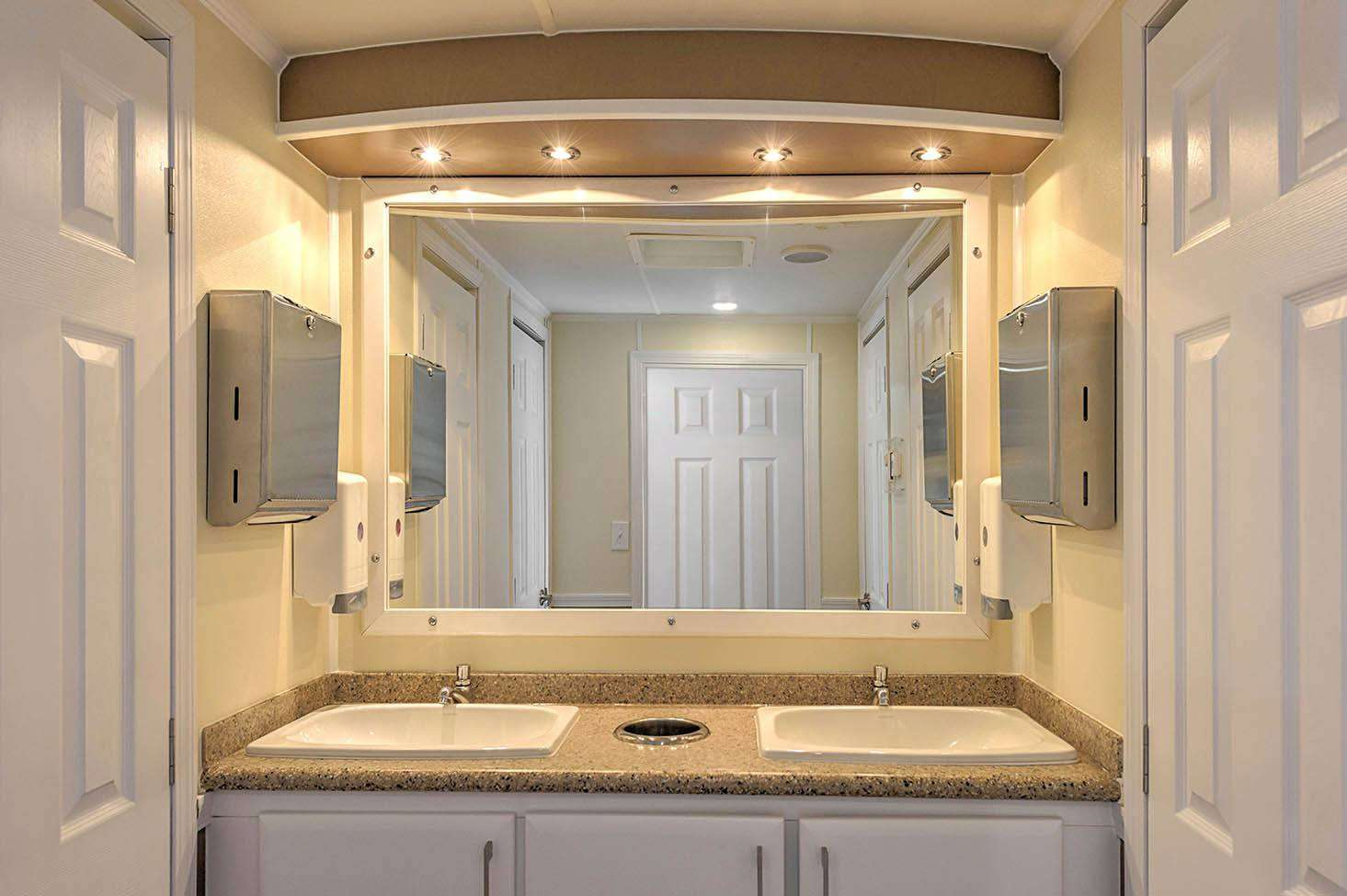Luxury Restroom Trailer - Interior
